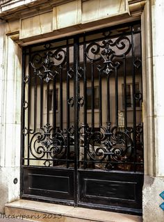 Wrought Iron Doors, Paris Photography, Paris Photo, French Decor, Paris Decor, Ile St Louis