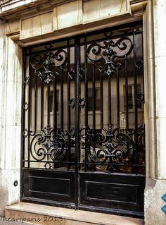 Wrought Iron Doors, Paris Photography, Paris Photo, French Decor, Paris Decor, Ile St Louis