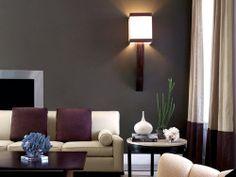 purple, brown, and gray living room