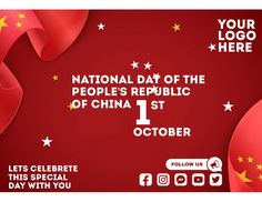 Customize this design with your video, photos and text. Easy to use online tools with thousands of stock photos, clipart and effects. Free downloads, great for printing and sharing online. Flyer (US Letter). Tags: china, national day of the republic of china, national day of the republic of china 1st october, republic of china, Event Flyers, Chinese New Year , Chinese New Year Chinese New Year Poster, New Years Poster, Event Flyers, Share Online, Beautiful Posters, New Year Celebration, Free Downloads, The Republic, Social Media Graphics