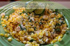 Mexican Street Corn Salad | Kathy's Kitchen Table - This is one of my favorite Mexican side dish!
