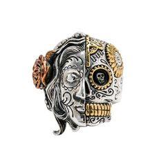 Men/'s Motorcycle Harley Punisher 3D Skull Cross Theme Biker Ring Size 8 9 10 13
