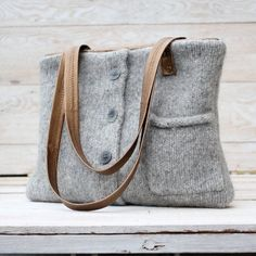 "Sweater Handbags | Recycled Sweater Bag - Silver and Gold Tote | fashion...... ...SERIE""INFELTRITORI""....."