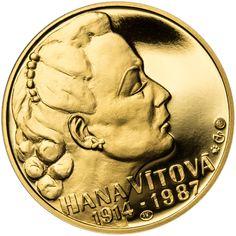 HANA VÍTOVÁ - 100. VÝROČÍ NAROZENÍ ZLATO Coins, Personalized Items, Artists, Love, Coining, Artist
