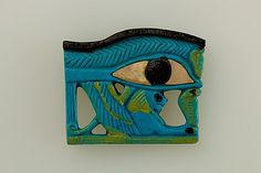 Wedjat Eye Amulet, ca. 1070–664 B.C. From Egypt. The Metropolitan Museum of Art, New York. Purchase, Edward S. Harkness Gift, 1926 (26.7.1032) | Wedjat eye amulets were among the most poular amulets of ancient Egypt. The wedjat eye represents the healed eye of the god Horus and embodies healing power as well as regeneration and protection in general.