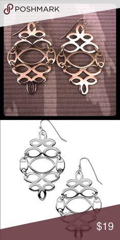 """Lia Sophia """"Mirror Image"""" earrings Lia Sophia """"Mirror Image"""" chandelier earrings. Excellent condition. Lia Sophia Jewelry Earrings"""