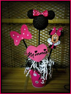 Image detail for -Minnie Mouse Birthday Decoration by RaeofSunshinedesign on Etsy Minnie Mouse Theme Party, Minnie Mouse Birthday Decorations, Minnie Mouse Baby Shower, Mickey Party, Mickey Mouse Birthday, First Birthday Parties, Birthday Ideas, Birthday Table, 4th Birthday