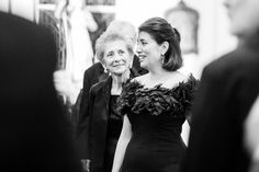 The Three Generations. The bride's grandmother watches her daughter, the brides's mother, watching the bride walk down the aisle.  Photo by:  C Baron Photography, a #wedding photographer in Houston, Texas.
