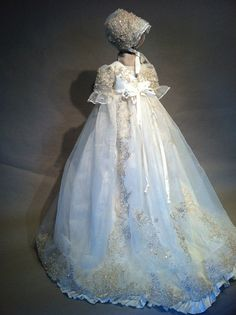 Angela West Christening gown set Victoria by angelawesthgowns