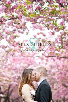 Engagement Couple Cherry blossom    Alexi Shields