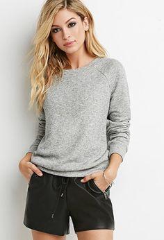 Classic Heathered Sweatshirt   Forever 21 - 2000173297