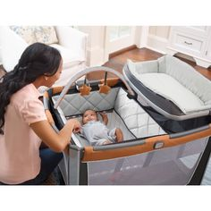 Amazon.com : Graco Pack 'N Play Playard Smart Stations, Tangerine : Baby