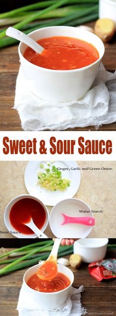 This Chinese Sweet and Sour Sauce is delicious. My family love it. Vegetarian Chinese Recipes, Authentic Chinese Recipes, Chinese Chicken Recipes, Easy Chinese Recipes, Asian Recipes, Chinese Meals, Chinese Desserts, Wan Tan, Sauce Pizza