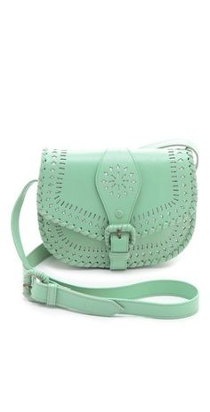 Cleobella Cantina clutch/over the shoulder mint green bag!