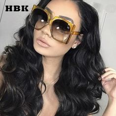 7c02ef9d8528 #Fashion #BestPrice HBK Square Sunglasses Oversized Big Frame Vintage Women  Luxury H30123 #Discounts