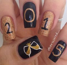 new year's eve nails  it's a girly thing  pinterest