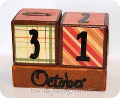 I Sew, Do You: Make a Fall Perpetual Calendar {tutorial}