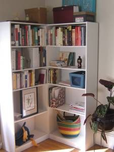 Corner Unit Using 2 Ikea Billy Bookcases And You Can Hide Stuff In That Don T Want To See Year Round I E Wring Paper