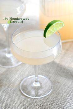 The Backyard Bartender: A Tale of Two Daiquiris.The Hemingway Daiquiri 2 oz white rum oz fresh lime juice oz fresh grapefruit juice oz maraschino liqueur Non Alcoholic Drinks, Cocktail Drinks, Cocktail Recipes, Wine Recipes, Cocktail Glass, Daiquiri Cocktail, Cocktail Ideas, Cocktail Parties, Bar Drinks