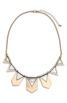 Free shipping and returns on BP. Two Tone Geometric Statement Necklace at Nordstrom.com. Two-tone styling accentuates the bold geometric design of a striking statement necklace.