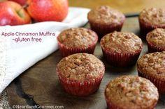 apple cinnamon muffins gluten free Cinnamon Cupcakes, Apple Cinnamon Muffins, Cinnamon Apples, Gluten Free Cupcakes, Gluten Free Muffins, Gluten Free Recipes, Fall Recipes, Snack Recipes, Snacks