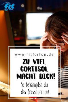 Je mehr Stress, desto mehr Cortisol, desto mehr Gewichtszunahme. #gesundheit #abnehmen #stress