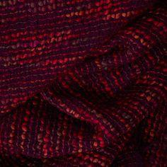 Carlet Mohair Blanket - dark purple & raspberry works wonderfully with marsala.