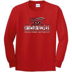 Wades Chimichangas Longsleeve T Shirt - Red / 2XL