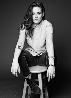"""{FC: Kristen Stewart} """"Heya. My name is Vixx. I'm 18, single, gay, and really closed off. I stay to myself a lot, but tend to open up around people more once I get to know them better. I also play guitar and drums."""" Smiles softly and nods."""