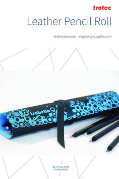 Are you looking for a unique leather pencil case for school, the office, or to gift? Follow the link for a step-by-step tutorial! We made this design on our Speedy 360 80 watt laser. #troteclaser Trotec Laser, Leather Pencil Case, Flatware, Diy Ideas, Rolls, Great Gifts, Knowledge, Templates, School