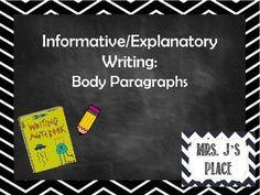 How do i write the body paragraph of my essay?