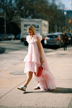 Pink statement dresses for summer parties.