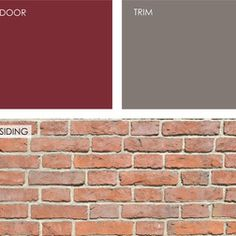 Exterior House gray Color Schemes with plum door | ... , offering color palette options for the front door, trim and siding