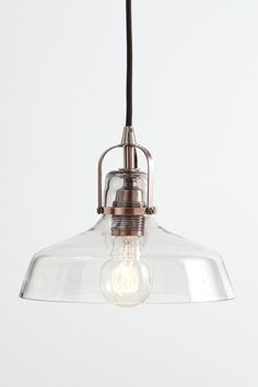 Jed Pendant Lighting - £40 Part of our Illuminate range, this ultra trendy pendant design with the glass shade, adjustable black fabric cord and unique copper accent is a must have in every stylish interior