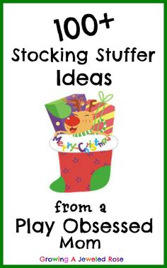 100+ Stocking Stuffer Ideas that facilitate play, creativity, & exploratory learning! There are also TONS of play activities in the post! jewel rose, stuffer idea, gift ideas, basket, play activ, learning activities, christma, stock stuffer, kid