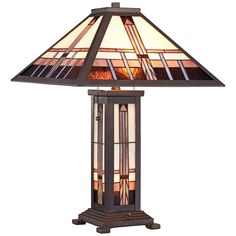 Robert Louis Tiffany Alfred Mission Tiffany Table Lamp - Style # 8C278