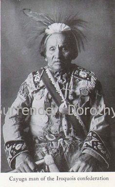 Cayuga Iroqois Man Native People Photogravure, via Flickr.