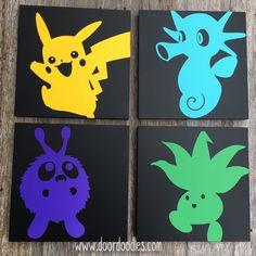 Items similar to Ships Now! Custom canvas wall art featuring Pokemon Pokeman Pikachu - your choice customizable! Pokemon Go, Pokemon Decor, Pokemon Party, Pokemon Birthday, Pikachu, Boy Room, Kids Room, Teen Game Rooms, Pokemon Painting