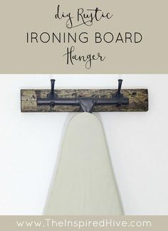 Hang Your Ironing Board in Style