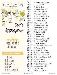 31 Day SoulDeep Scripture Reading w/ Sweet To The Soul Ministries - God's Masterpiece