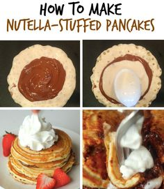 2. Nutella-Stuffed Pancakes | Here's How To Instantly Upgrade Pancakes