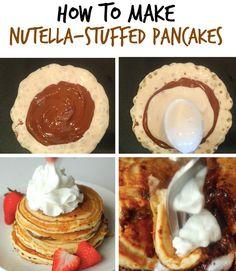 Nutella-Stuffed Pancakes