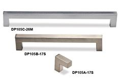 DP105A Square Pull - Metal - Drawer Pulls, Knobs & Door Handles