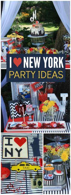 """I love NY / Birthday """"I love New York Birthday Candy Table Photoshoot"""" Elegant Birthday Party, Fairy Birthday Party, Birthday Candy, Birthday Party Themes, 16th Birthday, Happy Birthday, 18th Party Themes, Boxing Theme Party Ideas, Ideas Party"""