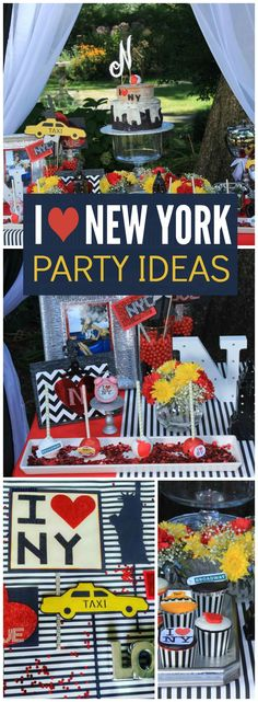 This party celebrates the beautiful and amazing city of New York! See more party ideas at CatchMyParty.com!