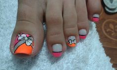 Mis diseños Astrid Toe Nail Color, Toe Nail Art, Easy Nail Art, Nail Colors, Manicure, Pedicure Nails, Pedicure Designs, Toe Nail Designs, Summer Toe Nails