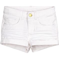 Twill Shorts $12.99 (17 CAD) ❤ liked on Polyvore featuring shorts, cuffed shorts, zipper shorts, elastic waistband shorts, elastic waist shorts and twill shorts