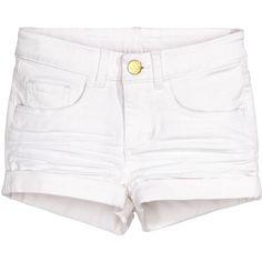 Twill Shorts $12.99 (86 DKK) ❤ liked on Polyvore featuring shorts, bottoms, pants, elastic waistband shorts, zipper shorts, cuffed shorts, twill shorts and elastic waist shorts