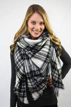 Holiday Blanket Scarf on Jane