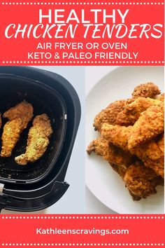 Breaded Chicken Tenders Baked, Healthy Breaded Chicken, Air Fryer Recipes Chicken Tenders, Oven Baked Chicken Tenders, Almond Crusted Chicken, Breaded Chicken Recipes, Air Fryer Dinner Recipes, Air Fryer Recipes Easy, Fries In The Oven